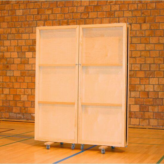 Fahrbare Spiegelwand 300x180 cm Ohne Splitterschutzfolie