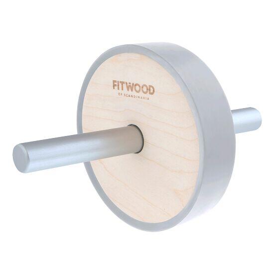 """Fitwood™ Ab Wheel """"Kjerag"""" Holz natur/Silber"""