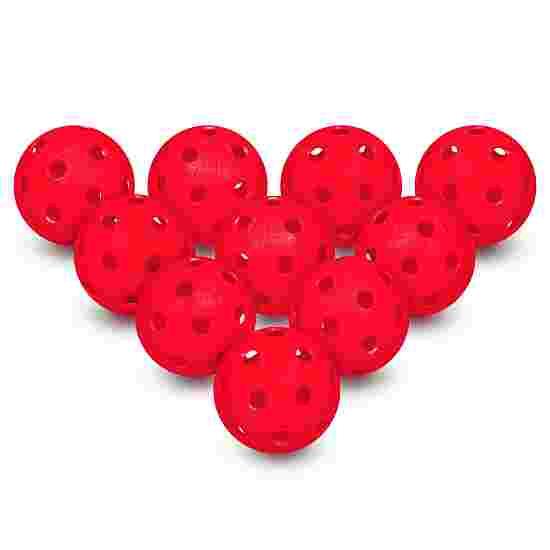 Floorball Balls, Set of 10 Red