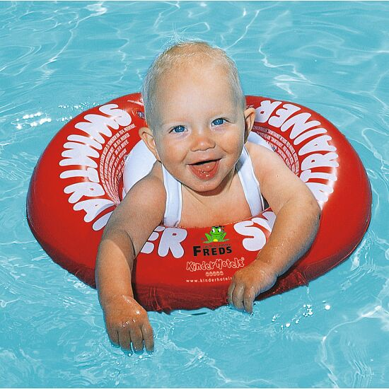 "Freds Swim Academy Schwimmring ""Baby Swimtrainer Classic"" Rot, ca. 3 Monate bis 4 Jahre"