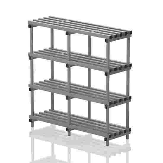 """Frei stehendes Kunststoff-Regal """"Schwimmbad"""" 150x50 cm, Grau"""