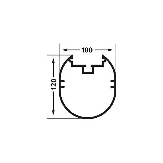 Fuldsvejset 7-/8-mands mål 5x2 m med bundramme 120x100 mm. i ovalprofil