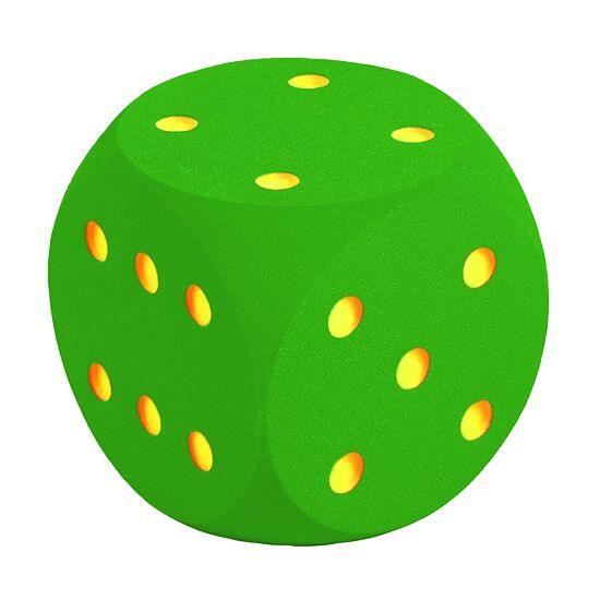Giant Foam Dice Green, 30 cm