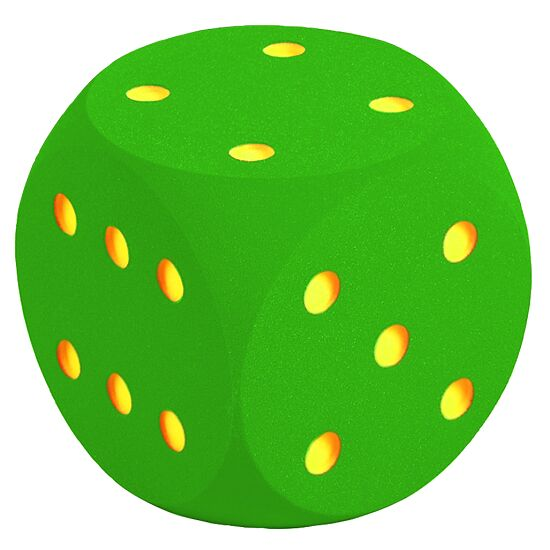 Giant Foam Dice Green, 50 cm