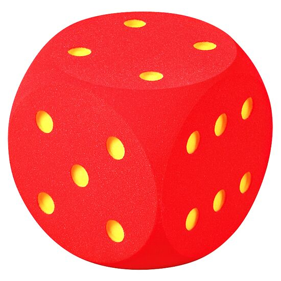 Giant Foam Dice Red, 50 cm