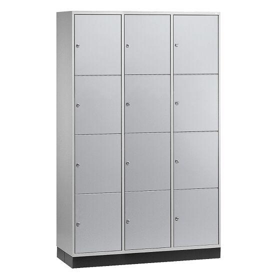 """Großraum-Schließfachschrank """"S 4000 Intro"""" (4 Fächer übereinander) 195x122x49 cm/ 12 Fächer, Lichtgrau (RAL 7035)"""