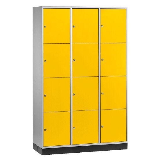 """Großraum-Schließfachschrank """"S 4000 Intro"""" (4 Fächer übereinander) 195x122x49 cm/ 12 Fächer, Sonnengelb (RDS 080 80 60)"""
