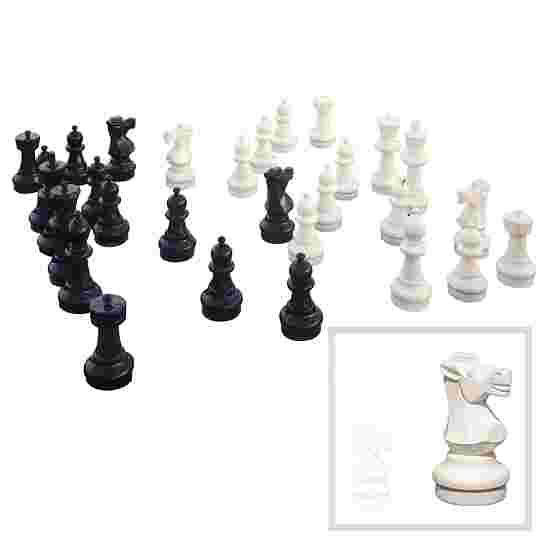 Gulv-Skakfigurer Standflade ø: 22,5 cm. Kongens højde: 64 cm.