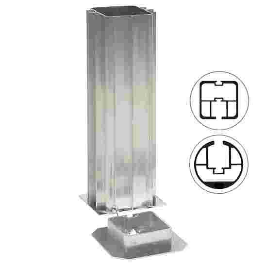 Gulvbøsninger til stolper: 80x80 mm eller Ø: 83 mm.
