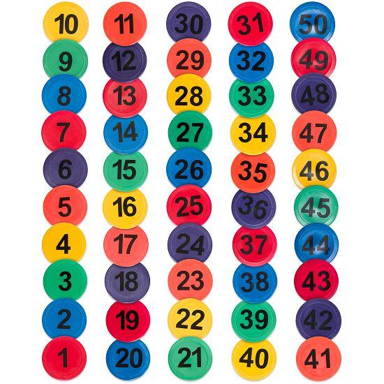 Gulvmarkeringssæt Tal fra 1-50