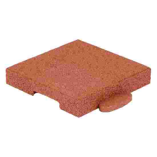 "Gum-Tech Eckstück ""Gerade"", 25x25 cm 8 cm, Rot"