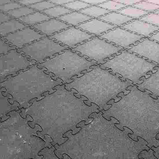"""Gum-Tech Fallschutzplatte """"Puzzle mat 3D"""" 6 cm, Schwarz"""