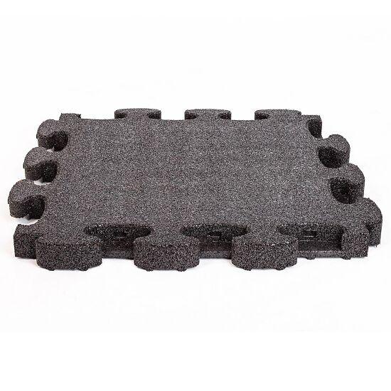 """Gum-Tech Fallschutzplatte """"Puzzle mat 3D"""" 4,5 cm, Schwarz"""