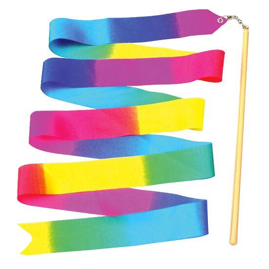 Gymnastikband Regenbogen mit Stab 2 m