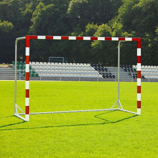 Handball Goal With attachable net brackets, Red/white