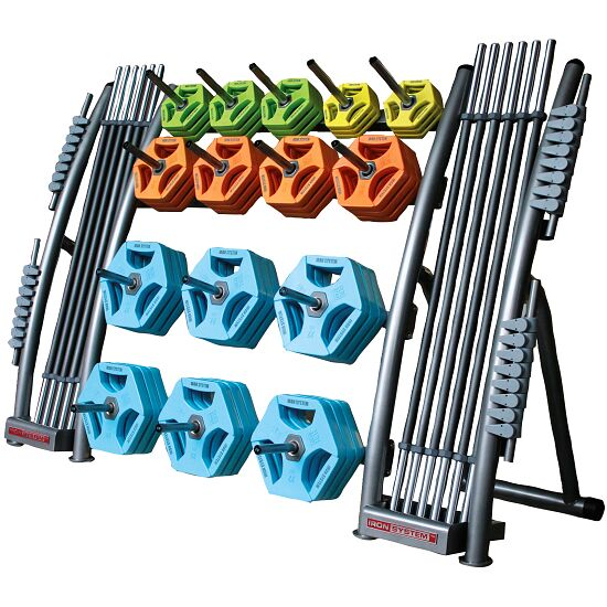 Hot Iron Storage Rack with Spikes for 10-kg Weight Discs