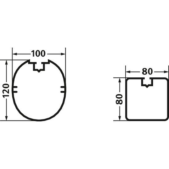 Indendørs Fodboldmål 5x2 m Kvadratprofil: 80x80 mm.