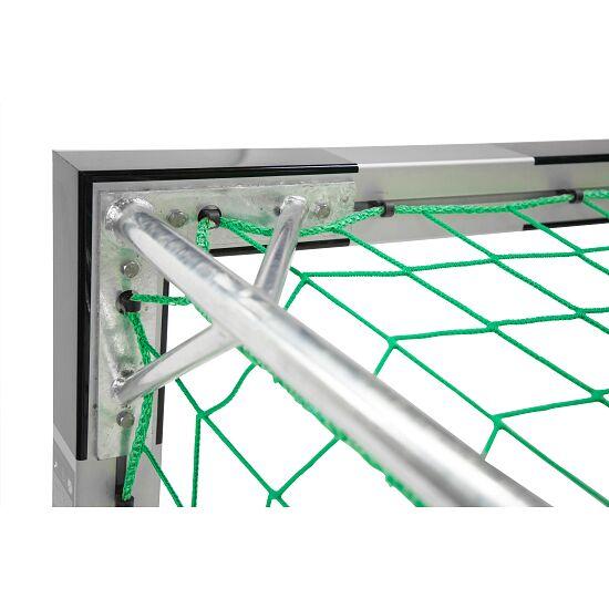 Indendørs Håndboldmål 3x2 m Med faste netbøjler, Sort-sølv