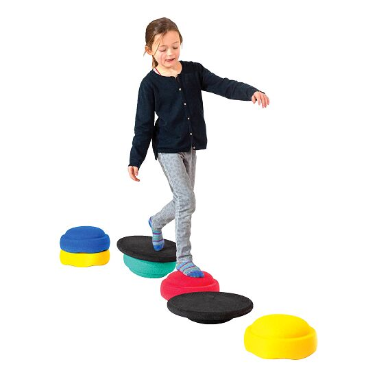 Joboo® Stapelstein Balance-Set Kreiselstein Grau