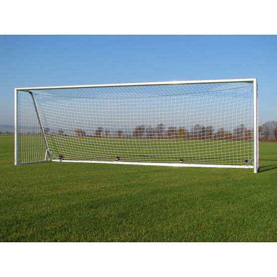 Kippsicheres Alu-Fußballtor ohne zusätzliche Bodenverankerung