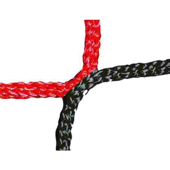 Knotenloses Herrenfußballtornetz Schwarz-Rot
