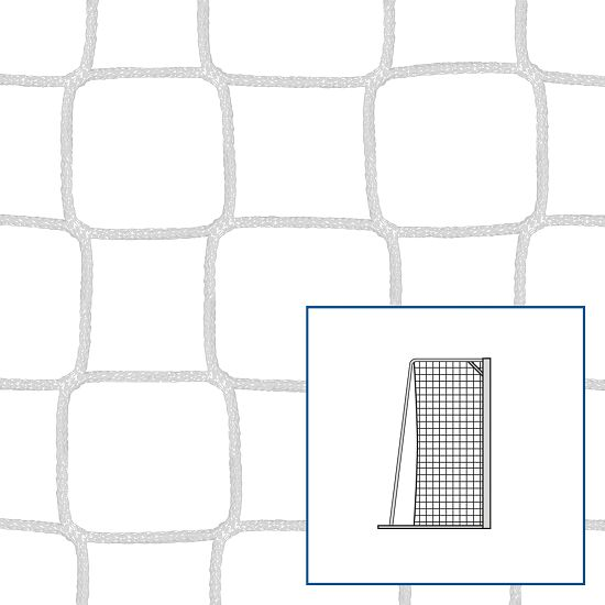 Knudeløse legeplads-/håndboldmål-net Hvid