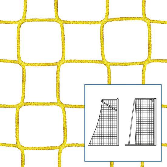 Knudeløse net til legeplads- og håndbold mål Gul, 4 mm