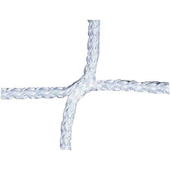 Knudeløst net til 11-mands fodboldmål 750x250 cm. Hvid