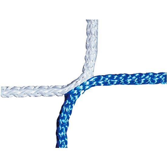 Knudeløst net til 11-mands fodboldmål 750x250 cm. Blå-hvid