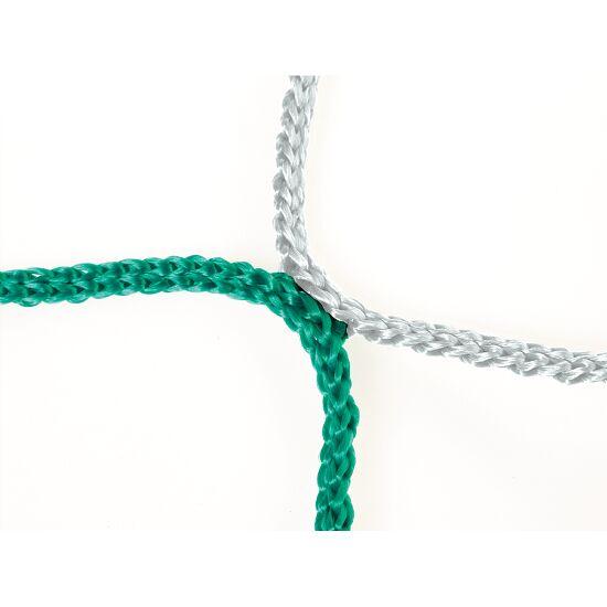 Knudeløst net til 11-mands fodboldmål 750x250 cm. Grøn-hvid