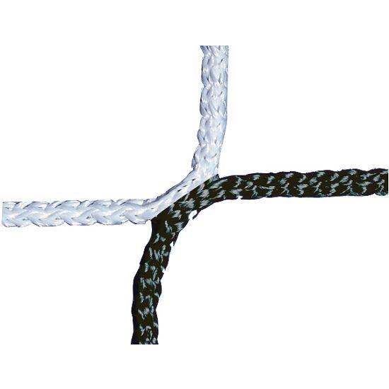Knudeløst net til 11-mands fodboldmål 750x250 cm. Sort-hvid