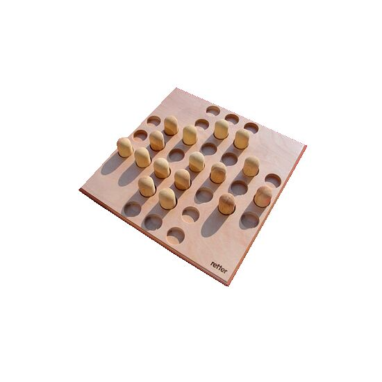 Large Wooden Solitaire