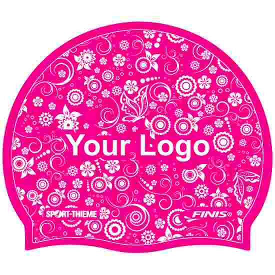 Latex Printed Swimming Cap Pink, Double-sided