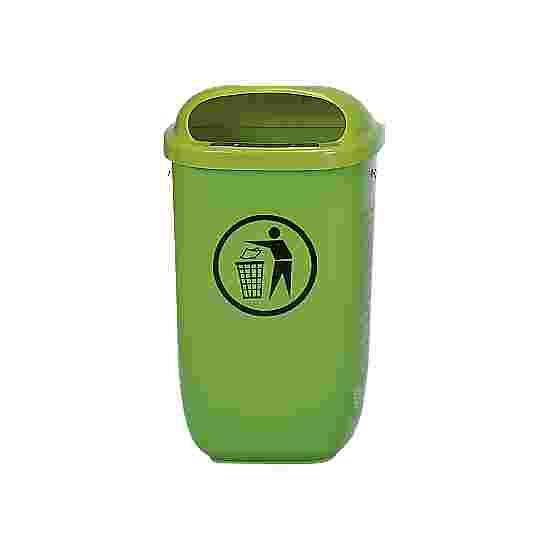 Litter Bin, complies with DIN Standard, Green