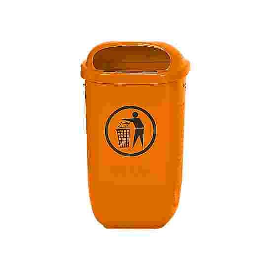 Litter Bin, complies with DIN Standard, Orange