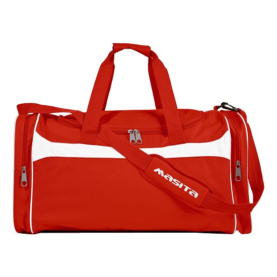 """Masita® Sporttasche """"Brasil"""" Junior = 60x30x26 cm, Rot-Weiß"""