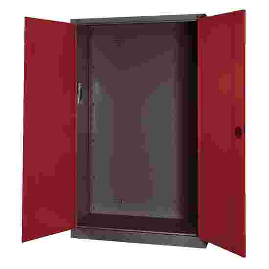 Modular Sports Equipment Cabinet, HxWxD 195x120x50 cm, with Sheet Metal Double Doors Ruby red (RAL 3003), Anthracite (RAL 7021)
