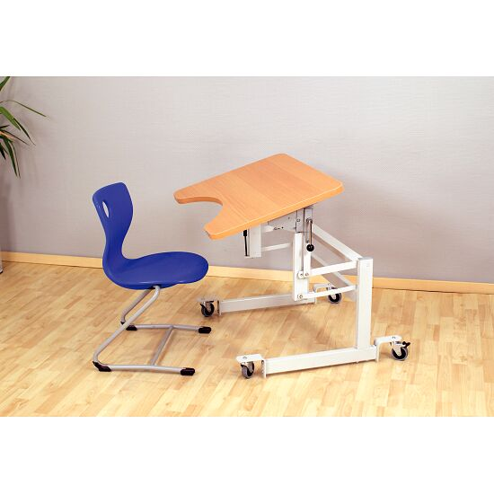 "Möckel ""ergo S 52 R"" Ergonomic Table Castors with brakes, Beech-effect"