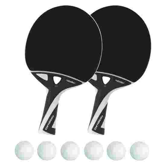 """""""nexeo X70"""" Table Tennis Bat Set White balls"""