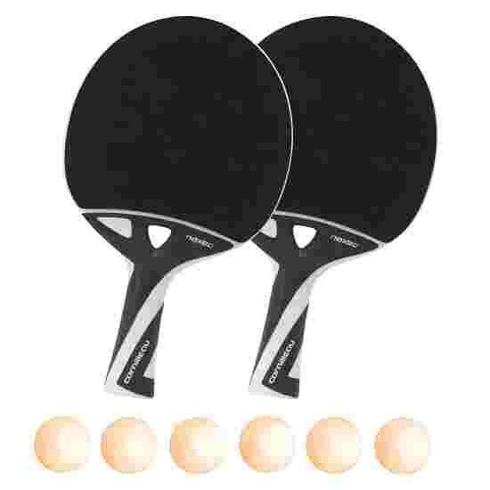"""nexeo X70"" Table Tennis Bat Set Orange balls"