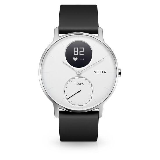 Nokia Steel HR - Fitnessuhr mit Herzfrequenz- & Aktivitätsmessung 36 mm, Schwarz/Weiß
