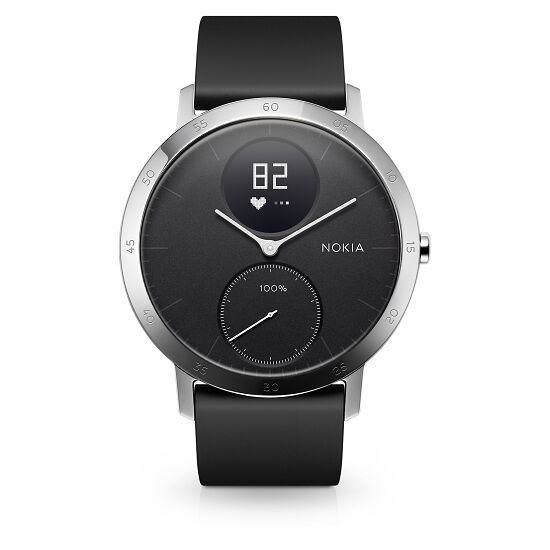 Nokia Steel HR - Fitnessuhr mit Herzfrequenz- & Aktivitätsmessung 40 mm, Schwarz