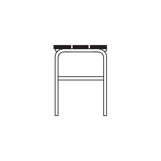 Omklædningsbænk til tørre rum uden ryglæn 1,01 m, Uden skotøjshylde