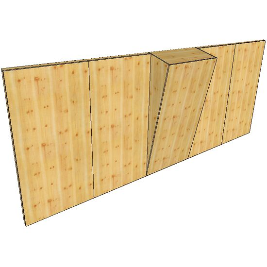"OnTop® Boulderwand-Bausatz ""Indoor Natur Pur"", Höhe 2,48 m 620 cm, Mit Überhang"