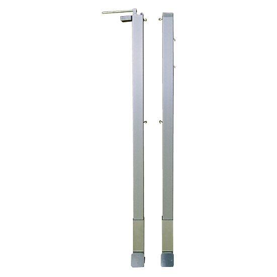 Paar Badmintonpfosten mit innenliegender Spannmechanik Quadratprofil 80x80 mm