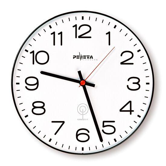 Peweta® Büro-Funkwanduhr Schwarz