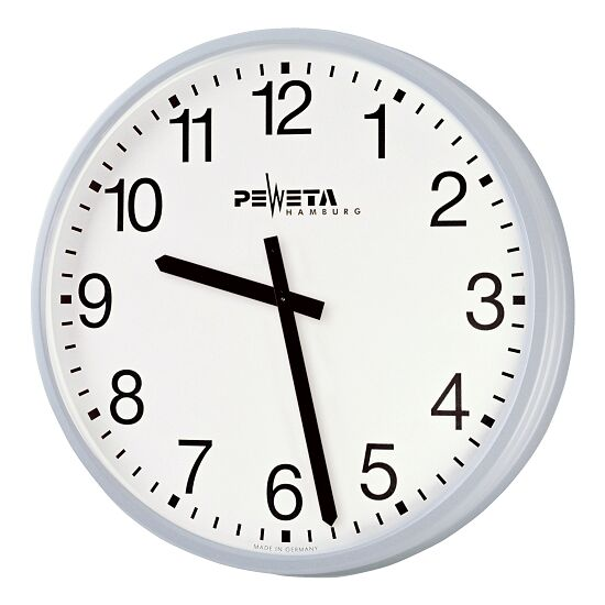 Peweta® Großraum-Wanduhr ø 52 cm, Batteriebetrieb Standard, Zifferblatt arabische Zahlen