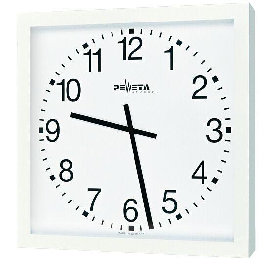 Peweta® Großraum-Wanduhr 40x40 cm, Batteriebetrieb Standard, Zifferblatt arabische Zahlen