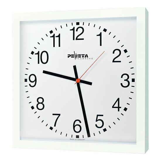 Peweta Großraum-Wanduhr 40x40 cm, Netzbetrieb 230 V Standard, Zifferblatt arabische Zahlen