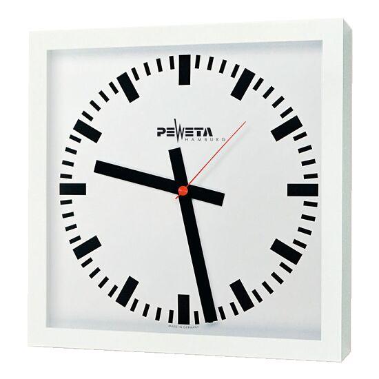 Peweta® Großraum-Wanduhr 40x40 cm, Netzbetrieb Standard, Zifferblatt DIN-Balken